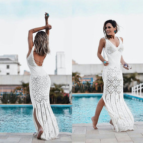 Vestidos Branco De Tricot Rendado Noiva Praia Crochê Escolha
