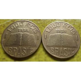 Moedas De 1000 Réis 1936,1938 Rara Coleção Antiga