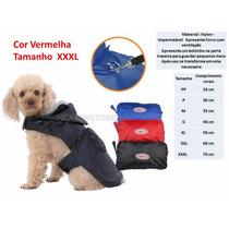 Capa Chuva Azul Capuz Roupa Acessórios Cão Dog Tamanho 3 X L