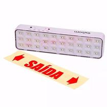 Lâmpada De Emergência Luminária Luz Recarregável 30 Leds