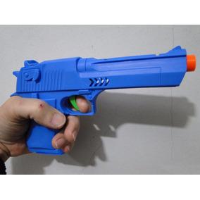 Sua Pistola 9mm Arma 22cm Mola Pressão Atira Dardos Revolver