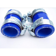 Union Clamps De Escape Yamaha Banshee Azul Nicecnc
