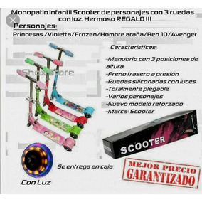 Monopatin Scooter 3 Ruedas Con Luces Mayor.detal Tiendfisica