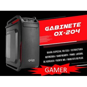 Gabinete Gamer Over Case Ox-204 Midtower Fuente 600w 80 Plus