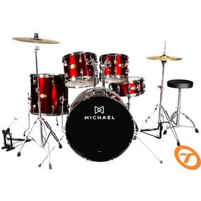 Bateria Acústica Michael Audition Dm826 Bumbo 18 Fretegrátis