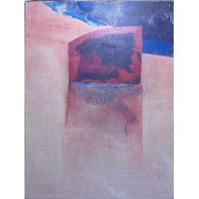 Cuadro Oleo Abstracto Anonimo (c-127)