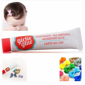 Girlie Glue - Cola P Acessórios Bebê Laços + Kit 10 Lacinhos
