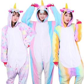 Pijama Mameluco Disfraz Unicornio Estrellas/arcoiris Adulto