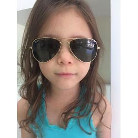 Óculos De Sol Ray Ban Aviador Infantil Original- Nota Fiscal