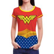 Kit 5 Camiseta Camisa Feminina Roupa Herois Blusinha Atacado