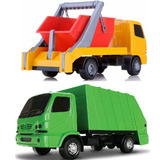 2 Caminhão De Brinquedo Urbano Coletor E Entulho