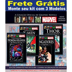 Kit Com 3 Graphic Novels Marvel Coleção Frete Grátis