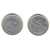 España 1957 (58) Moneda De 25 Pesetas De Cuproniquel