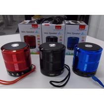 Mini Bluetooth Speaker Caixa De Som Recarregável Usb E Sd