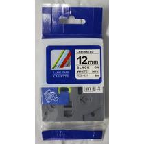 Fita Compativel Tze Tz-231 Rotulador Brother Branca 12mm