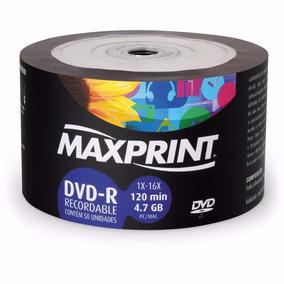 50 Midia Dvd-r Virgem Maxprint C/logo 16x Max Print 4.7g