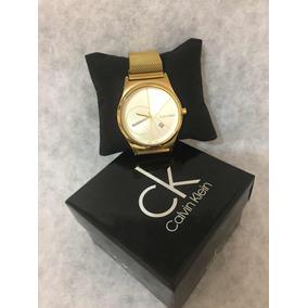 Reloj Calvin Klein De Hombre Con Broche De Iman Color Dorado