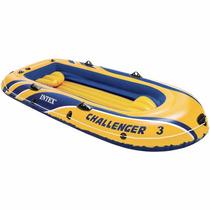 Intex Challenger 3 Inflable 3 Personas Lancha Bote Con Remos