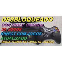 Xbox Perfeito+20 Jogos+ Kinect+controle+(é Desbloquead)