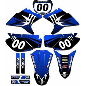 Kit Adesivos Gráficos Moto Ttr230 Mod Ttr-16 Personalizado