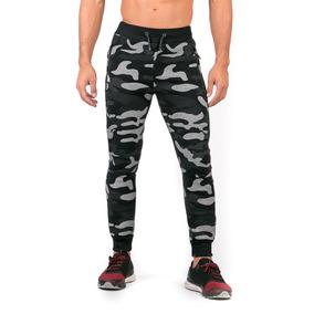 Pantalón Pants Negro Camo Caballero