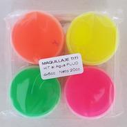 Maquillaje Titi Al Agua Kit 4x5cc Neto 20cc - Fluo