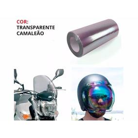 Adesivo Parabrisa Bolha Capacete Moto Transparente Camaleã
