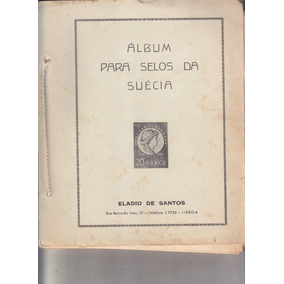 Álbum Com Selos Da Suécia De 1873 Até 1970 R$ 1.890,00