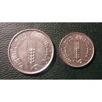 Francia X 2 Monedas ,5 Ctvs 1962 Y 1 Ctv 1967. Excelentes!!!
