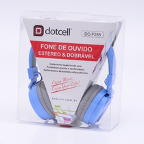 Fone De Ouvido Estéreo Dc-f255 Azul