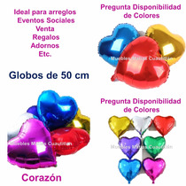Globo Metalico Corazon Amor San Valentin Adorno Fiesta