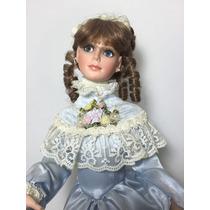 Muñeca De Porcelana. Figura Británica. Pieza De Colección