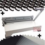 Kit P/ Encadernação Encadernadora + 100 Capas + 100 Espirais