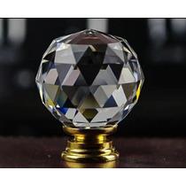 Jaladera De Cristal/base Dorada/40x50mm/set 5 Pzs