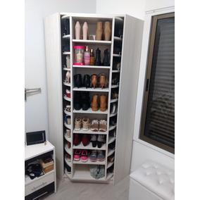 Zapatero giratorio zapateros en mercado libre argentina for Muebles para zapatos en melamina