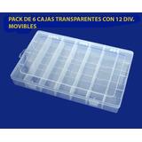 Set De 6 Cajas Plásticas Organizadoras Transparentes