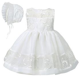 Yizyif Bebé Bordado Bautizo Bautismo Vestido Formal Vestido