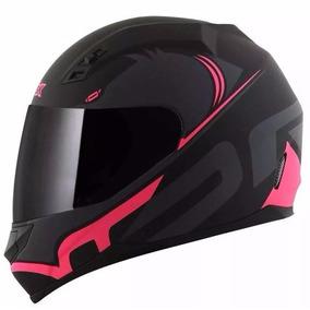 Capacete Motociclista Norisk Ff391 Squalo Preto/rosa Fosco