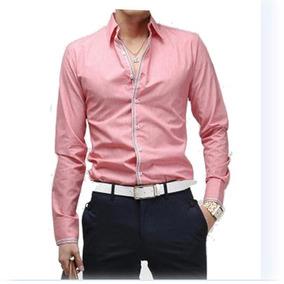 Camisas Slim Fit Formales One Stripe Night Shirt Envioinmedi