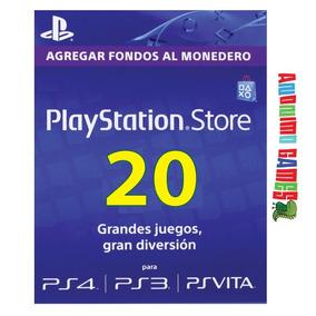 Psn 20 Playstation Network Prepaga Compras Usa