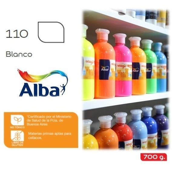 Tempera Alba Magic En Botella X 700 Gr  Blanco