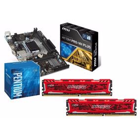 Kit Pentium G4560 + H110m Pro-vh Plus + 2x 4gb C/nf