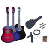Guitarra Criolla Electroacústica Nylon C/ Corte + Acc. Gecc