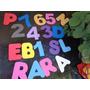 Letras Ou Números Painel Decoração Letreiro Eva 10cm 104 Uni