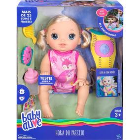 Boneca Baby Alive Hora Do Passeio Loira Hasbro C2688 S/juros