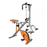 Body Crunch Xtreme Con Bicicleta Magnética Y Piston Resisten