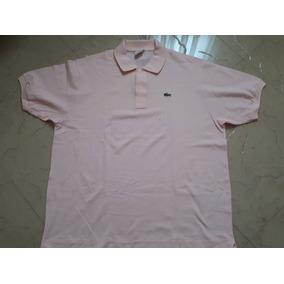 0f143a6724501 Camisa Polo Lacoste Tamanho Xl - Camisas Rosa claro no Mercado Livre ...