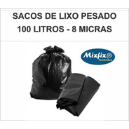 100 Und. Saco Para Lixo 100 Lt Reforçado Super Pesado