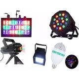 Super Kit Festa Iluminação Festa Jogo De Luz Strobo Laser