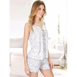 Pijama Estampado Musc Y Short Talle Especial Poema 4692 Dor